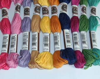 Plied cotton threads DMC 89 for N 2108,2111,2120,2436,2726,2766,2791,2787,2916,2987,2956 canvas sold individually