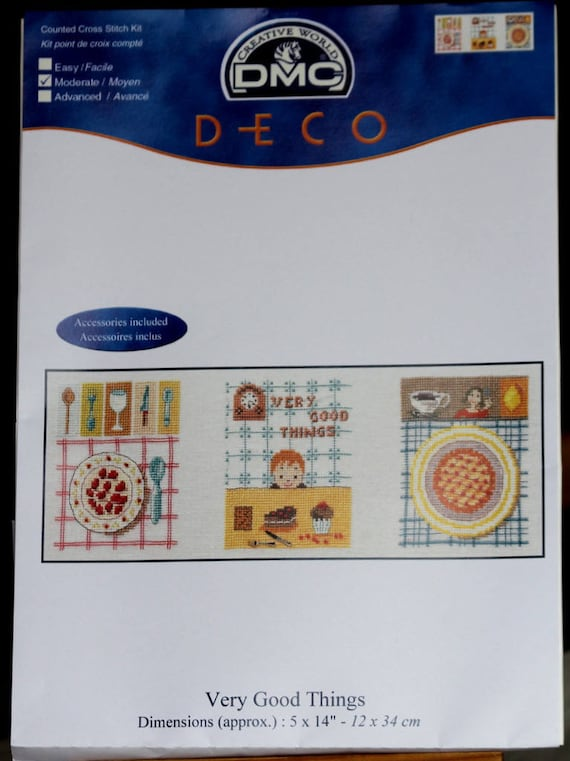 Cross stitch Kit DMC very good things to embroider on a linen canvas 11 cm 12 x 34 cm