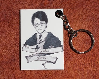 Harry Potter year one Keychains Magnetic (Pen Drawings) Handmade Keyrings