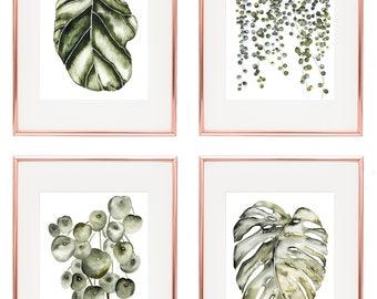 Botanical prints set, Botanical poster, Botanical art prints, Kitchen decor, Set of prints, cottage decor, prints and posters, vintage print