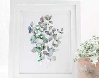 Plant leaf art print, Plant print, Leaf print, Printable art, Tropical art, leaves print, Tropical plant print, Tropical leaf print
