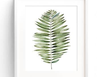 Tropical leaf print, Fern wall print, Tropical wall poster, Tropical leaf prints, Tropical leafs print, wall art, fern leaf print,Fern print