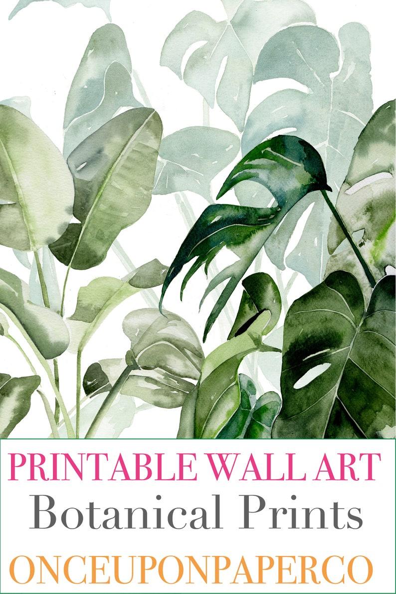 Varen print Afdrukbare muur kunst Leaf print Botanische image 8
