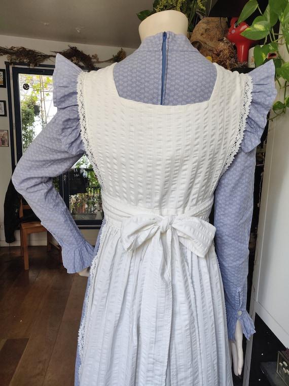 Laura Ashley Pinafore Apron Dress - Vintage 1970s - image 4