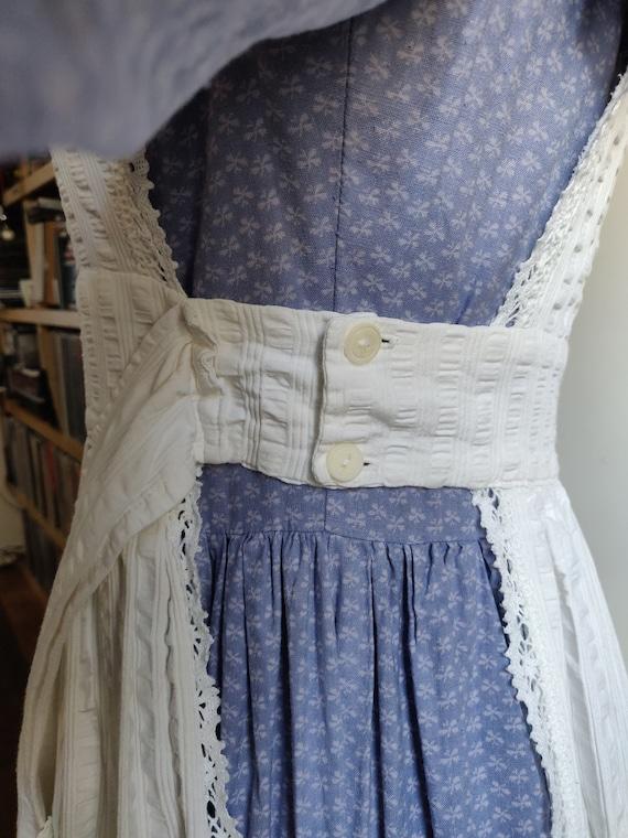 Laura Ashley Pinafore Apron Dress - Vintage 1970s - image 5