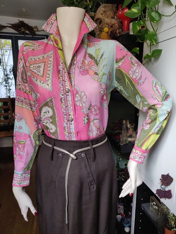 1960s Emilio Pucci Cotton Blouse - image 1