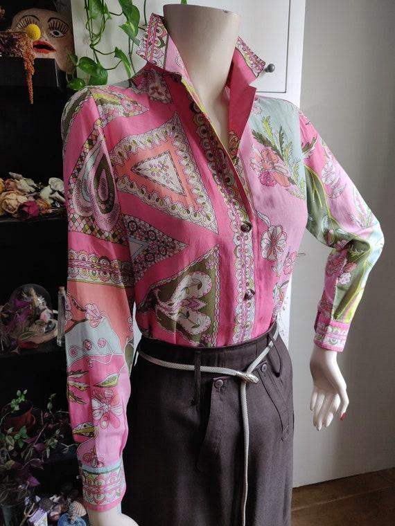 1960s Emilio Pucci Cotton Blouse - image 2