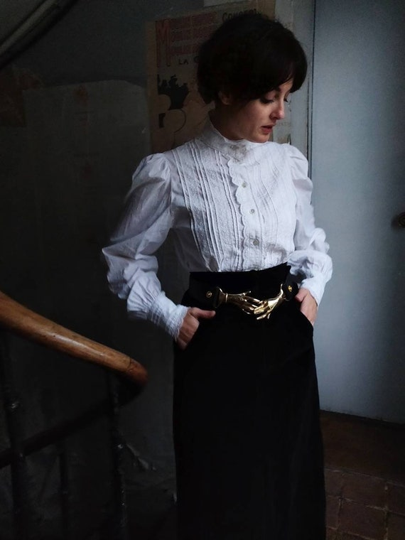 1980s Laura Ashley Edwardian Victorian Blouse