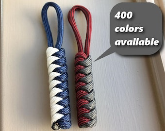 Zipper Pull Snake Knot Men s Women s and Children s Parachute Cord  Accessories 400 Colors Available 4e1f49071
