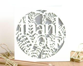 Thank you card, Thanks card, Thank you note card, Luxury thank you card, Merci card, Gratitude card, Cute thank you card, Grateful card