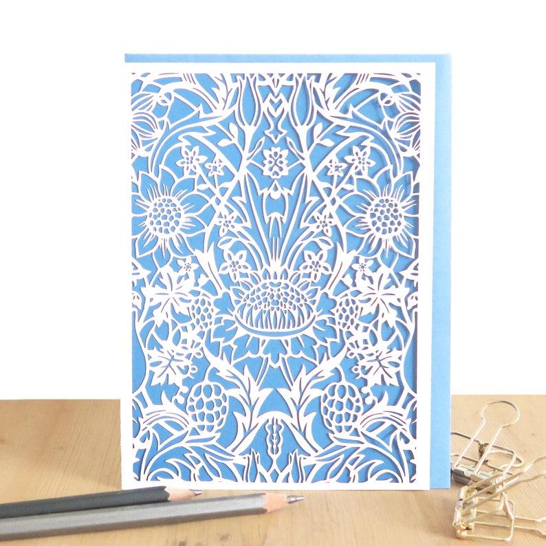 833a1bef7195 William Morris card Morris lover card Sunflower card | Etsy