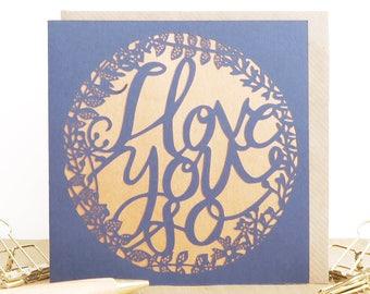 I love you card,  Valentine's day card,  Anniversary card, Romantic card, Card for wife, Card for husband, Boyfriend card, Girlfriend card