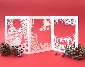 Merry Christmas cards, 3D Christmas card, Christmas ornament, Daughter Christmas card, Christmas card for mum, Christmas card mom, Noel card