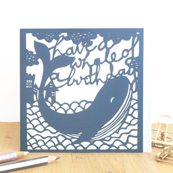 Whale Birthday Card Humorous Funny Dad Boyfriend Son CardCard For Men