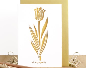 Sympathy card, I'm sorry card, Grief mourning card, Thinking of you card, Bereavement card, Pet loss card, Sad loss card, WIth sympathy card