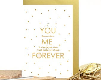 You me always card, Anniversary card, Dating anniversary card, Romantic love card, Card for boyfriend, Card for girlfriend, Card for wife