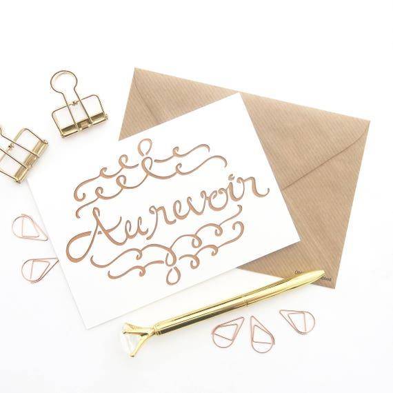 Au Revoir Wording Au Revoir Laser Cut Sign