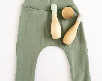 Sage green harem pants