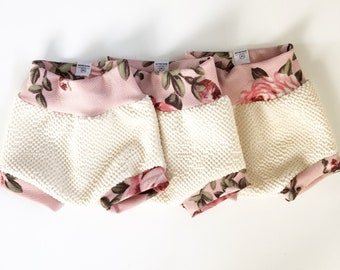 Floral and Cream Bummy Shorts