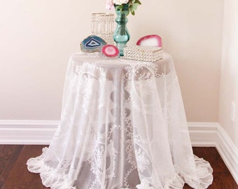 7efb2fe52f3 Lace Tablecloth Overlay Venetian Lace Overlay Ruffle Shabby Layer Banquet  Tablecloth