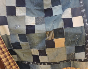 Recycled Denim Jean Quilt