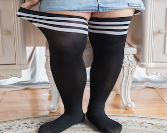 33e6e26371d97 Plus Size Big Curvy Thigh High Socks