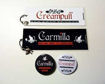 Carmilla Set, bookmarks and badges/buttons