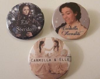 "Carmilla, Elle Sheridan, buttons badges (1,75"")"
