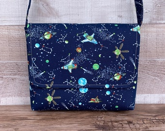 Messenger laptop case carry 90s acid bright colourful beach bag school tablet tote book bags retro 80s waterproof 90s style space cartoon