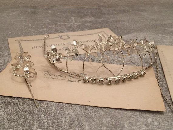 Silver Wedding Tiara III - Vintage myrtle silver w