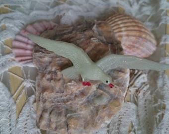 Flying dull - Baltic Sea Gull, vintage badge, brooch, PIN, coast, souvenir, East Coast souvenir dull, vintage jewelry