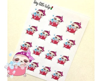 Planner Stickers Sloth Taking A Bath
