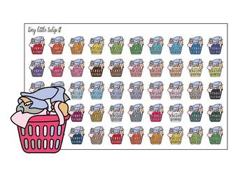 Planner Stickers Laundry Baskets