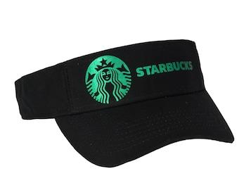 bd19f4b72 Starbucks Soft Metallic Foil Design Visor Cap
