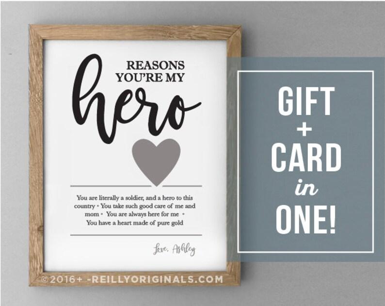 Personalized Anniversary Birthday Fathers Gift Hero