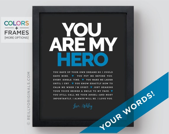 Personalized Gift My Hero Things I Love Anniversary Husband