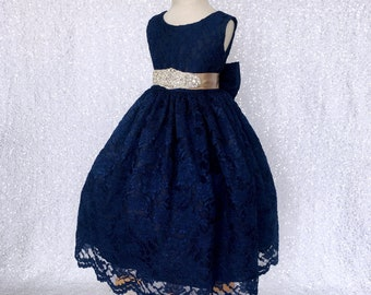 36fc48f11144 Navy girls dress