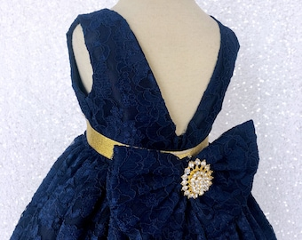3c4f3557020d Girls navy dress