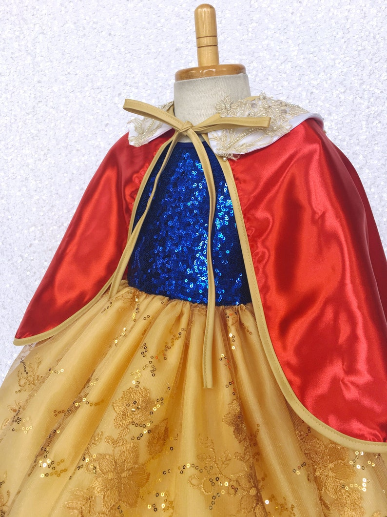 Sparkly Pageant Halloween Keyhole Snow White Inspired Dress Photoshoot Summer Spring Holiday Fall Birthday Party Graduation Junior Newborn
