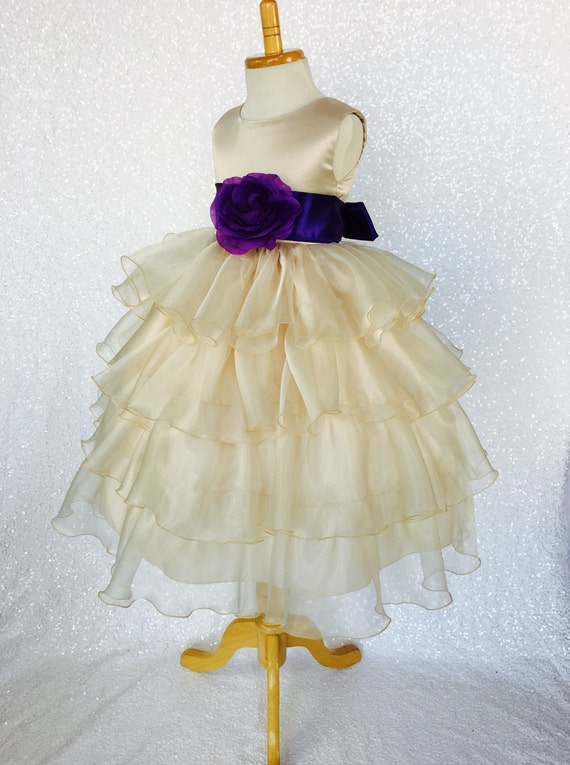 Nouveau Bébé Fleur Filles Blanc Satin Organza robe Pageant Pâques Mariage Fête