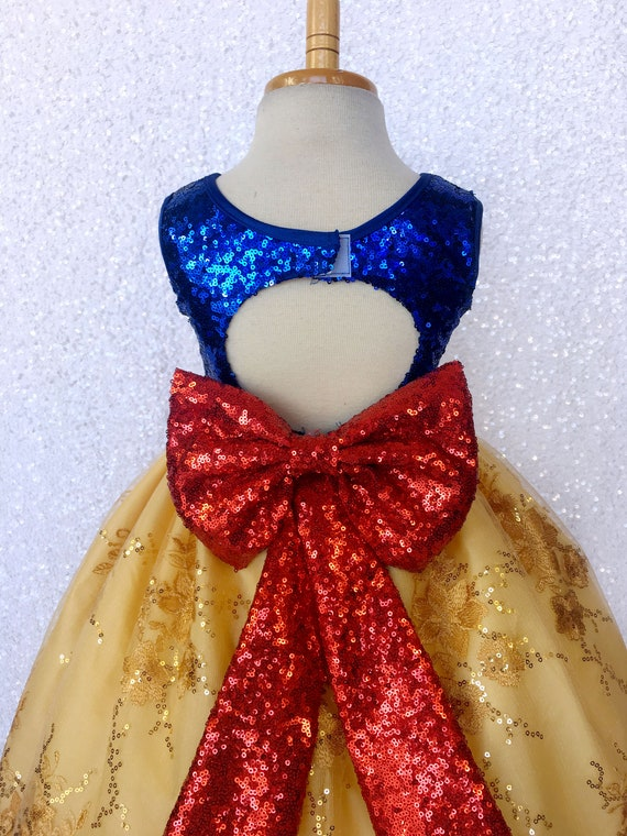 Sequin Photoshoot Keyhole Snow White Inspired Ball Gown Dress Etsy