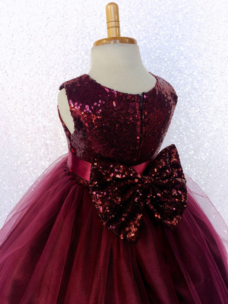 c84283af9 Chic Formal Burgundy Sequence Fishing Line 2 Layer Gown Satin