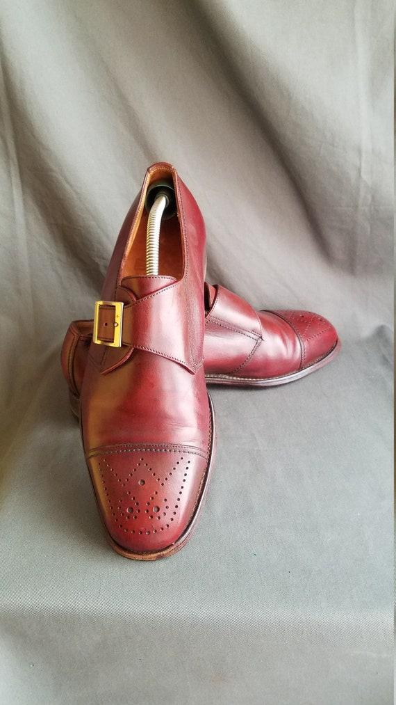 Cognac Leder JM WESTON Cap Toe Mönch Riemen formelle Kleidung Herrenschuhe 8,5