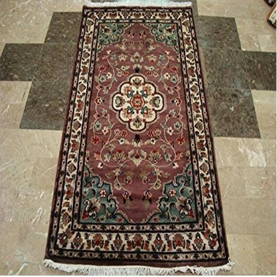 Rectangle Rug, Wool Silk Carpet, Ivory Carpet, Hand Knotted Carpet, Silk  Rug, Carpet, Area Rug, Wool Carpet, Bedroom Rug, 5x3 ft