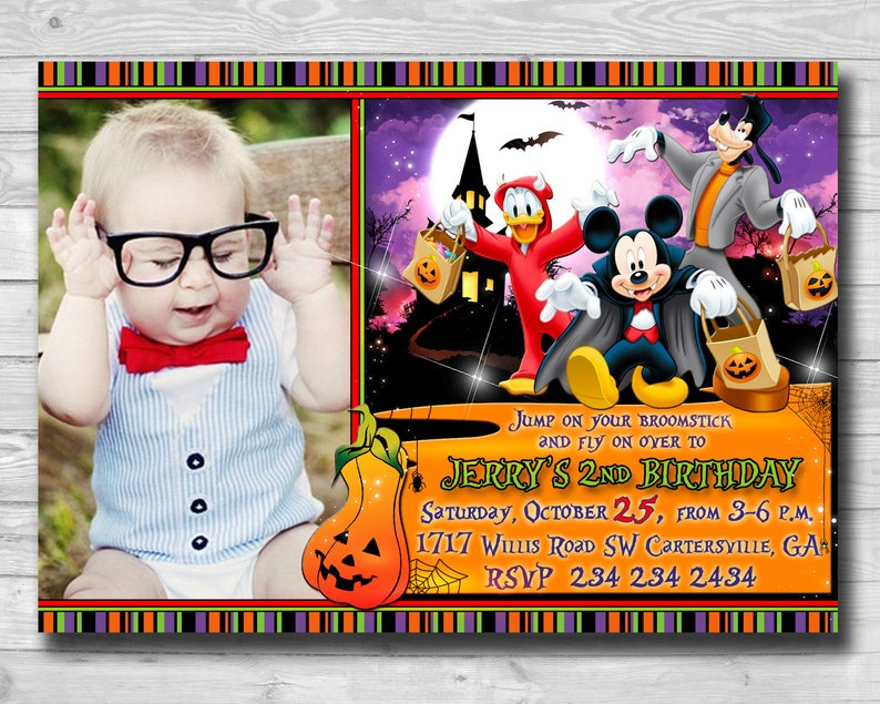 Halloween Invitations Mickey Mouse