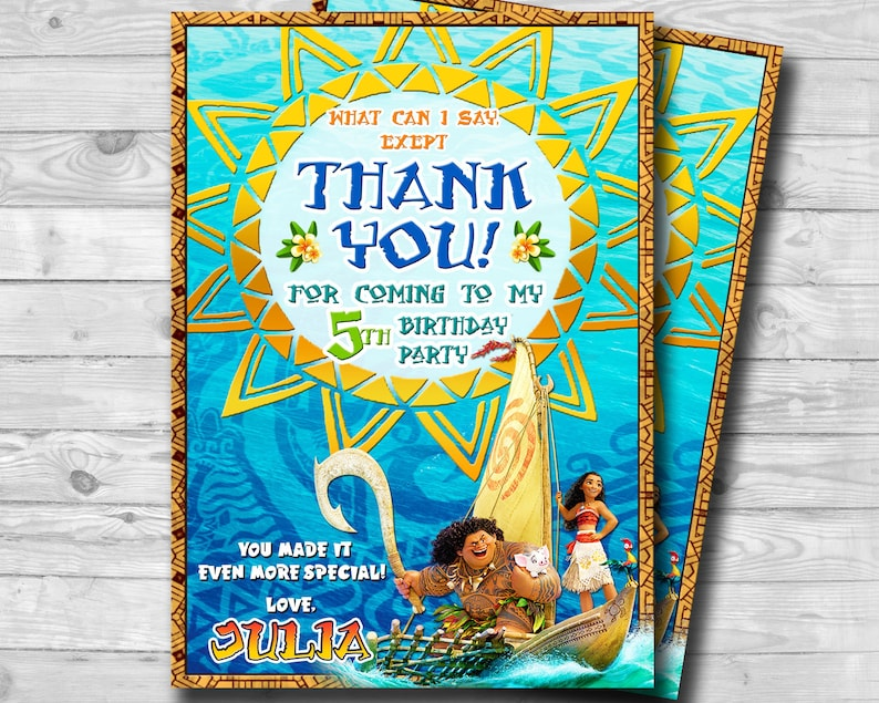 Thank you note Princess Thank You Cards Personalized- Printable Beach Theme card- Birthday Thank You Card Birthday Greeting cards