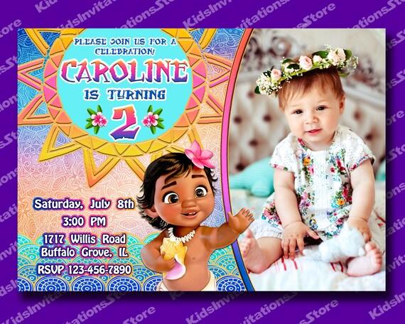 Moana Invitation Baby First Birthday
