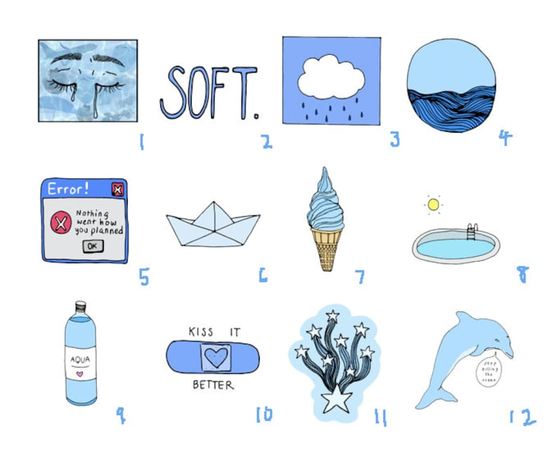 Blue Aesthetic Stickers