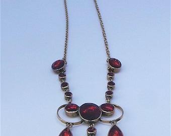 A lovely almandine garnet Victorian necklace