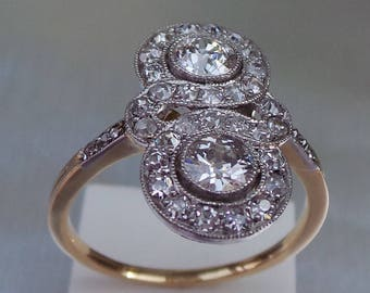 A rare Art Deco Diamond engagement ring in 18 carat gold